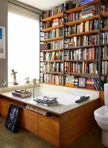 Reading corner in the bathroom